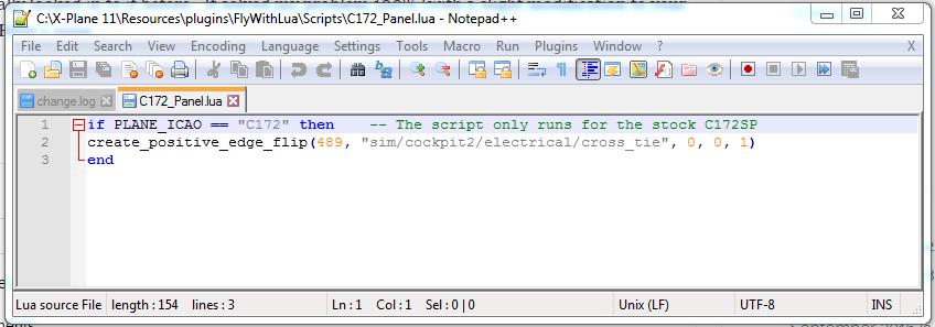 C172 Lua Script